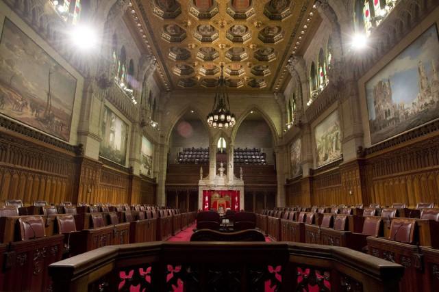 La Chambre haute est enlisée dans le scandale... (PHOTO ARCHIVES LA PRESSE CANADIENNE)