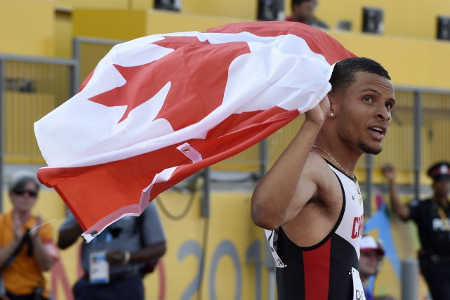 Andre De Grasse... (Photo Frank Gunn, La Presse Canadienne)
