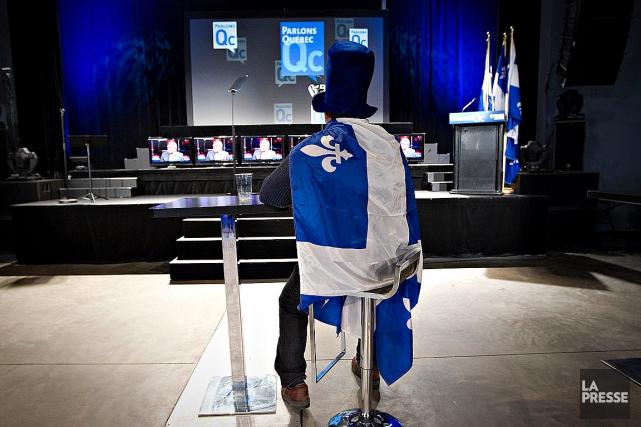 Les élections fédérales de 2011 (photo) ont donné... (PHOTO PATRICK SANFAÇON, ARCHIVES LA PRESSE)