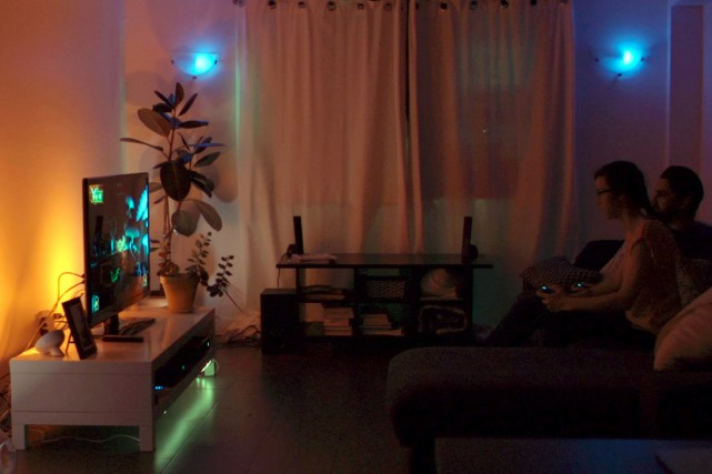 L'ambiance lumineuse évolue au rythme du jeu.... (Photo fournie par Frima)