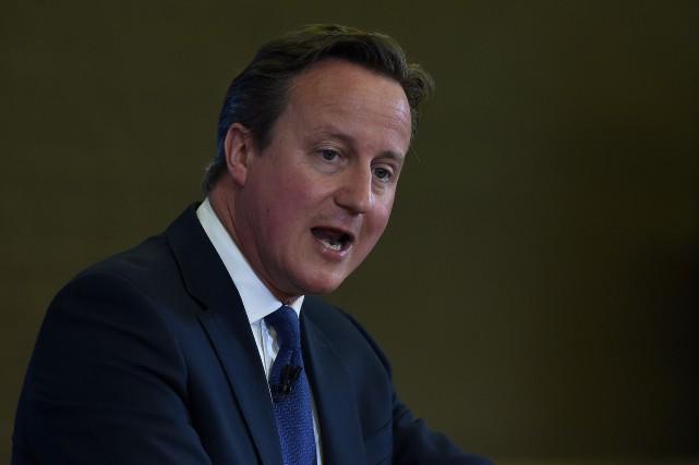 Le premier ministre anglais,David Cameron... (PHOTO PAUL ELLIS, AFP)