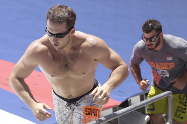 Ben Smith (à gauche) l'emporté tout juste devant... (Photo AFP)