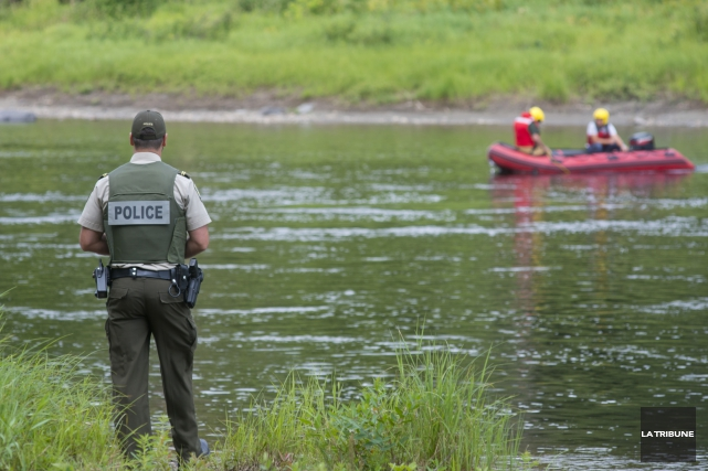 La Sûreté du Québec et le Service d'incendie... (Imacom, Julien Chamberland)