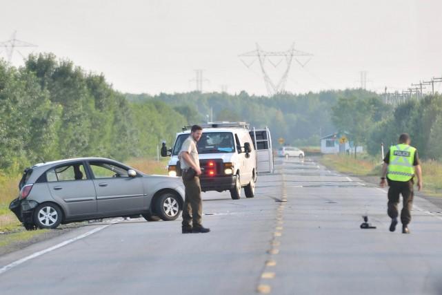 Un motocycliste est décédé dimanche à Saint-Narcisse après... (Photo: Émilie O'Connor)