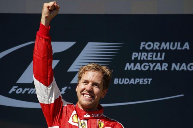 Sebastian Vettel, de Ferrari, a remporté le Grand... (Reuters)