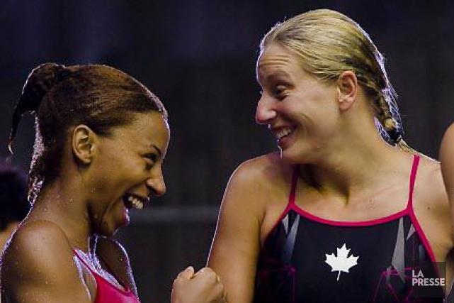 Émilie Heymans et Jennifer Abel... (Photo: André Pichette, archives La Presse)