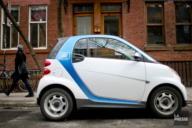 La principale entreprise d'autopartage du monde, car2go qui... (PHOTO DAVID BOILY, ARCHIVES LA PRESSE)