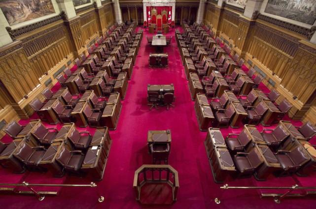 La chambre du Sénat... (La Presse Canadienne)