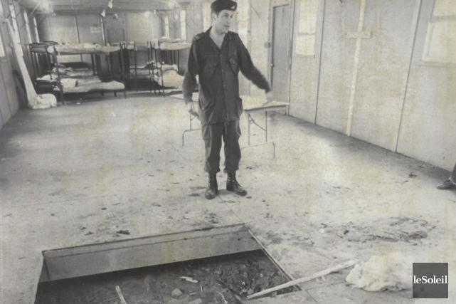 Au camp des cadets à Valcartier, le 30... (Archives Le Soleil)