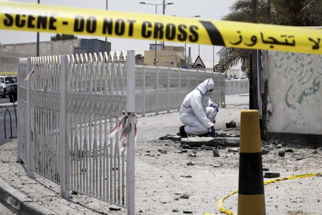 Les forces de l'ordre ont bouclé le secteur... (PHOTO MOHAMMED AL-SHAIKH, AFP)