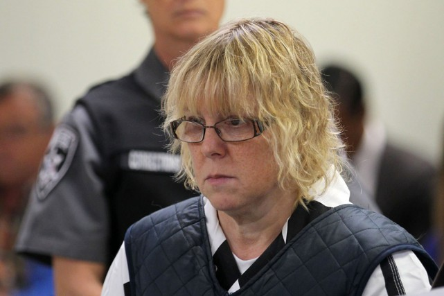 Joyce Mitchell a comparu aujourd'hui devant un tribunal... (PHOTO G.N. MILLER, AP/NEW YORK POST)