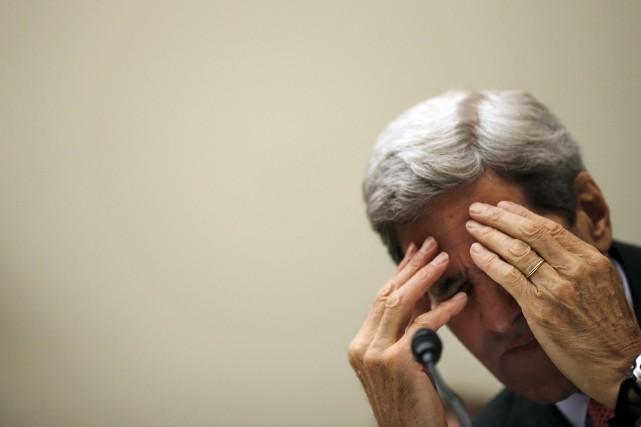 Le secrétaire d'État des États-Unis, John Kerry... (Photo Carlos Barria, AP)