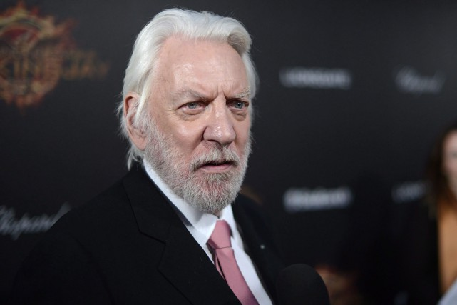 L'acteur Donald Sutherland... (PHOTO ARCHIVES LA PRESSE CANADIENNE/AP)
