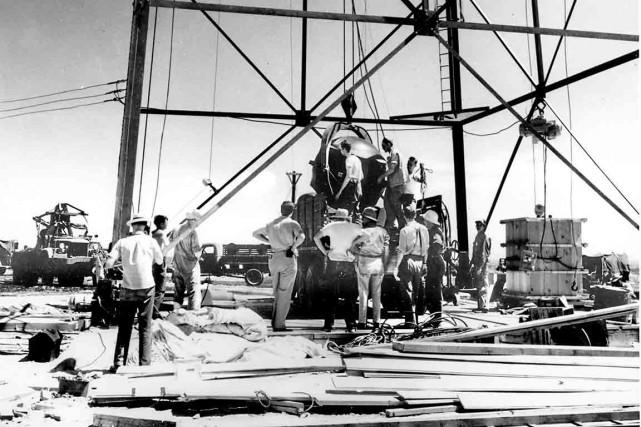 Les préparatifs de la bombe nucléaire ont nécessité... (Archives AP)