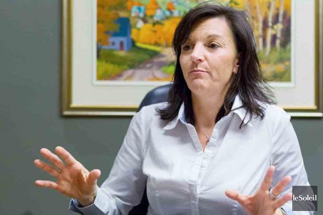La mairesse de Sainte-Brigitte-Laval,Wanita Daniele... (Photothèque Le Soleil, Caroline Grégoire)