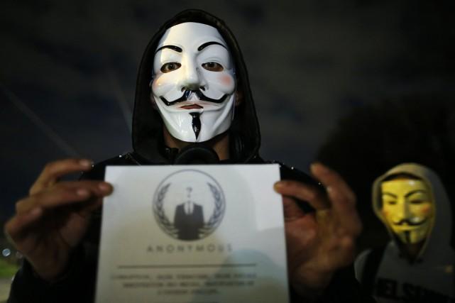 Le mystérieux groupe Anonymous a amorcé tard lundi soir la divulgation d'une... (Photo Reuters)