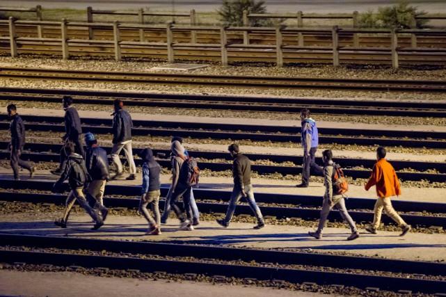 Le site d'Eurotunnel à Calais a été l'objet... (PHOTO PHILIPPE HUGUEN, AFP)