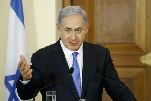 Le premier ministre israélien Benyamin Nétanyahou à Nicosie,... (PHOTO PETROS KARADJIAS, AP)
