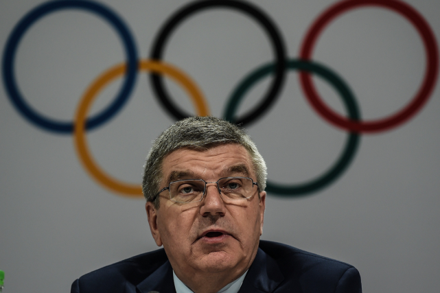 Le président du CIO, Thomas Bach.... (Photo Manan Vatsyayana, AFP)