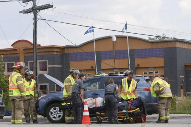 Un accident a fait au moins un blessé mercredi, dans le secteur Hull. (Simon Séguin-Bertrand, LeDroit)