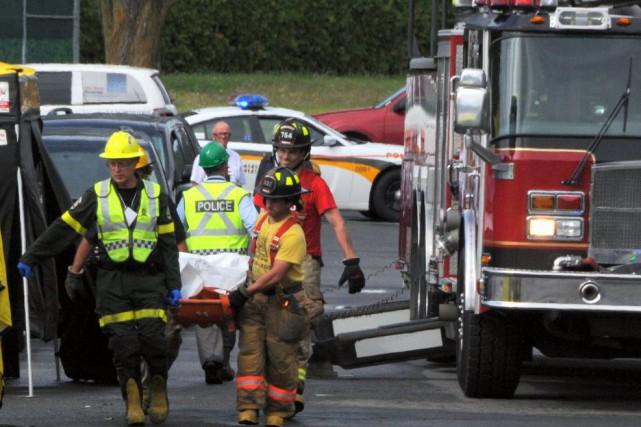 On connaît maintenant l'identité de la troisième victime de l'incendie survenu... (Photo collaboration spéciale Éric Beaupré)