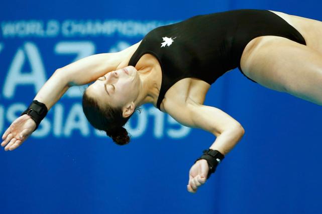 Roseline Filion a terminé 13e et n'a pas... (Photo Hannibal Hanschke, Reuters)