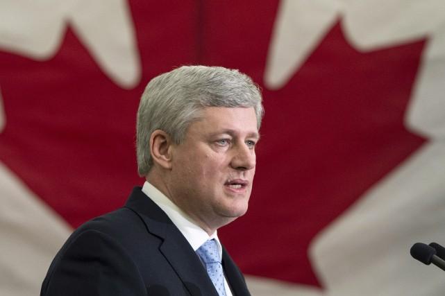Le premier ministre canadien, Stephen Harper... (PHOTO ARCHIVES LA PRESSE CANADIENNE)