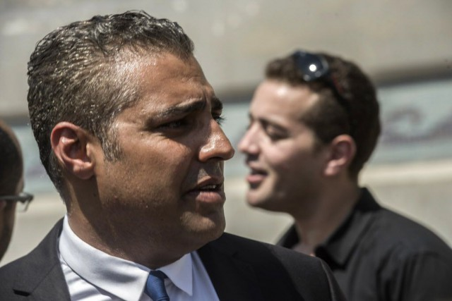 Le journaliste canadien Mohamed Fahmy... (PHOTO KHALED DESOUKI, ARCHIVES AFP)