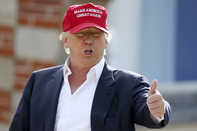 Le milliardaire Donald Trump a pris la tête... (PHOTO SCOTT HEPPELL, AP)