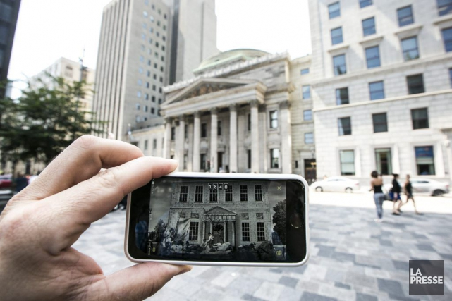 L'application Montréal en Histoires permet de voir certains... (PHOTO HUGO-SÉBASTIEN AUBERT, LA PRESSE)