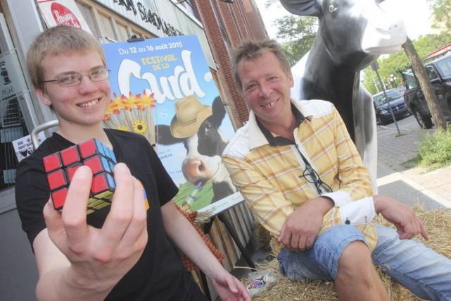 Antoine Cantin, champion du cube Rubik, sera une... (Étienne Ranger, LeDroit)
