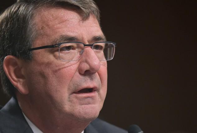 Le secrétaire à la Défense des États-Unis, Ashton... (PHOTO ARCHIVES AFP)