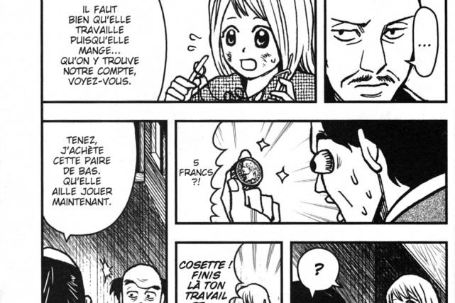Extrait des Misérables, en version manga.... (Illustration tirée des Misérables)