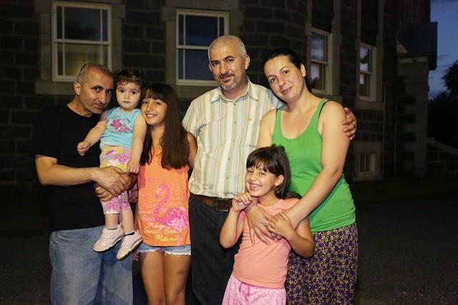 La famille Turk peut enfin sortir du sous-sol... (photo Catherine Trudeau)