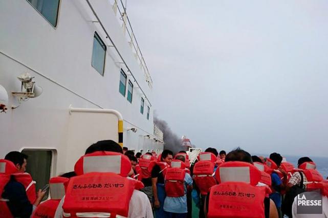 Au moins 94 personnes se trouvent à bord... (PHOTO AKIRA TAKAYANAGI, FACEBOOK)