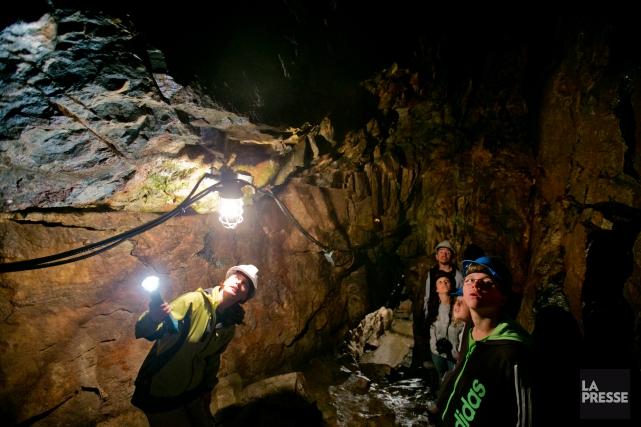 La grotte est aussi l'habitat naturel des chauves-souris.... (Photo François Roy, La Presse)