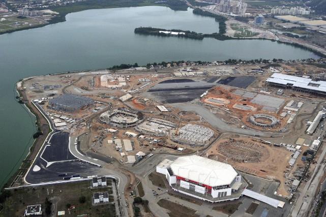 Vue aérienne du parc olympiquede Rio de Janeiroen... (Photo Andre Durao, Reuters)