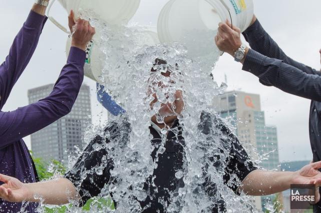 L'imminence du mois d'août ramène la tenue du «Ice Bucket Challenge» au Canada,... (Archives La Presse)
