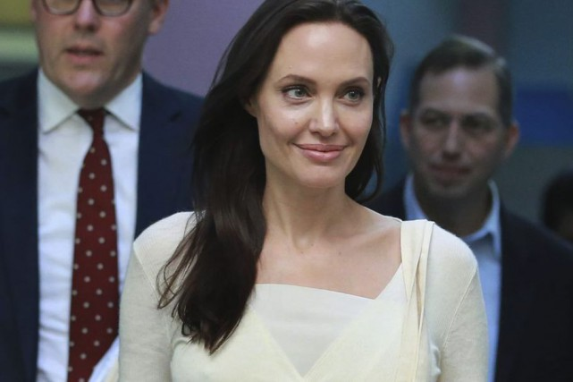Angelina Jolie en Birmanie.... (PHOTO AFP)
