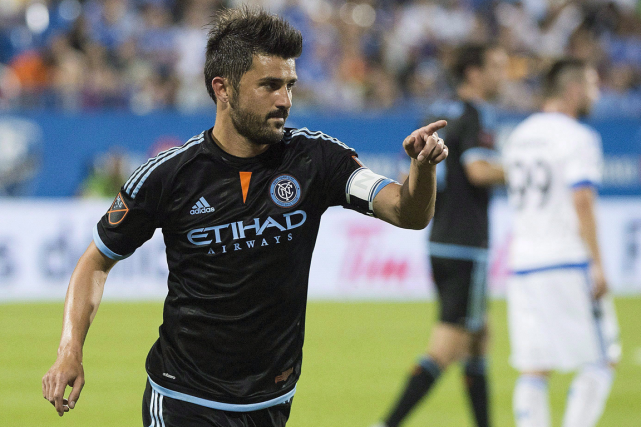 L'attaquant vedette du New York City FC David Villa a... (Photo Graham Hughes, PC)