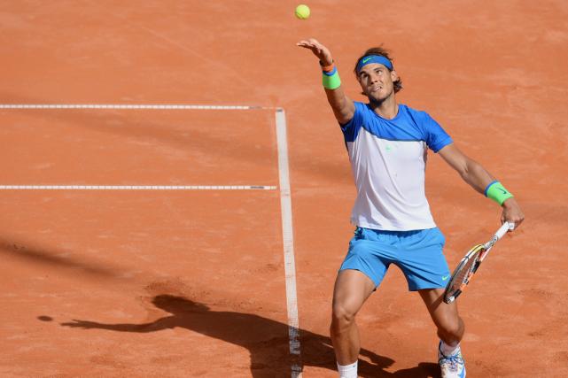 Rafael Nadal a accédé aux demi-finales du tournoi... (Photo Daniel Bockwoldt, AFP)