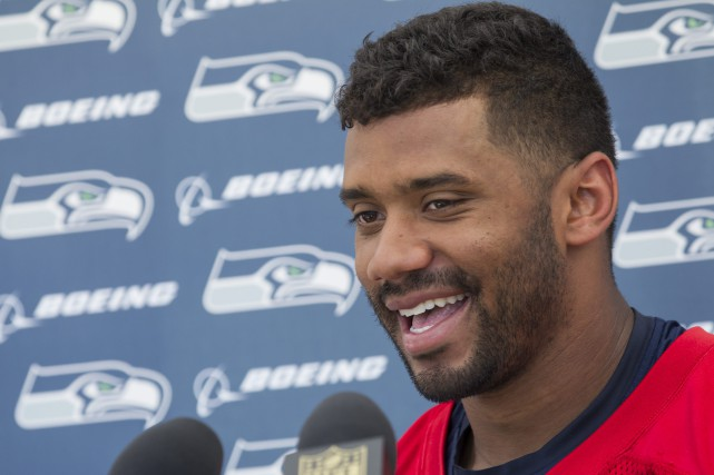 Russell Wilson... (Photo Stephen Brashear, AP)