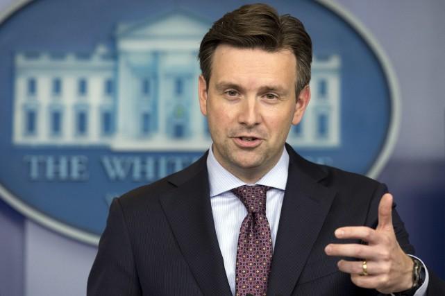 Le porte-parole de l'exécutif américain, Josh Earnest... (Photo Manuel Balce, archives AP)