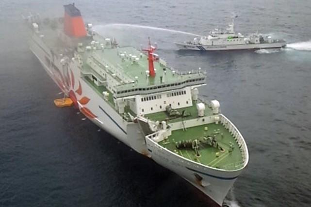 À l'exception du membre d'équipage porté disparu, tous... (PHOTO AFP/GARDE CÔTIÈRE JAPONAISE)