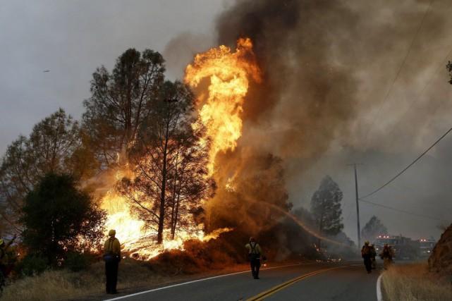 Les incendies sont fréquents en Californie, mais ils... (Photo Jeff Chiu, AP)