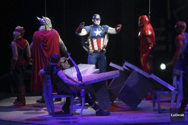 La bande de superhéros présentera son spectacle aujourd'hui... (Etienne Ranger, LeDroit)