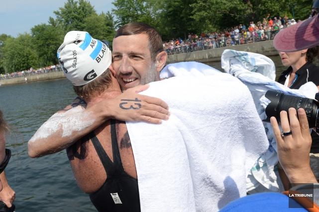 Damian Blaum est le seul nageur à Magog... (Archives, La Tribune)