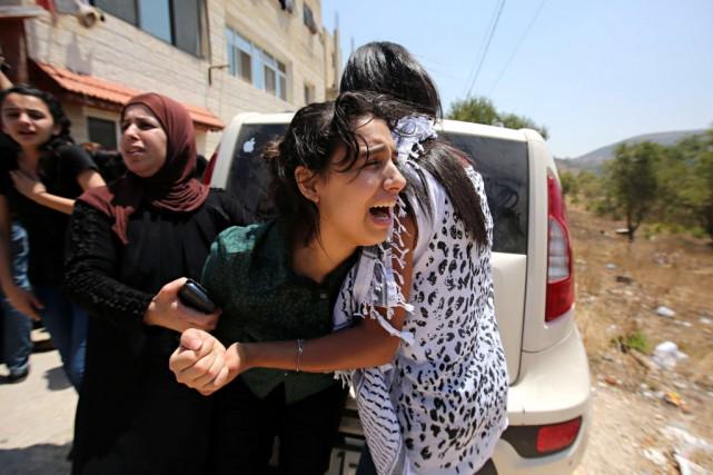 Les funérailles d'une des trois victimes, Laith Khaldi,... (PHOTO ABBAS MOMANI, AFP)
