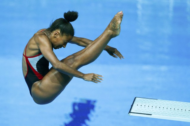 Jennifer Abel... (Photo Hannibal Hanschke, Reuters)