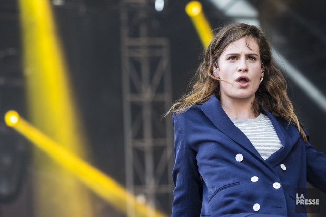 Christine and the Queens, à Osheaga, samedi.... (Photo Édouard Plante-Fréchette, La Presse)